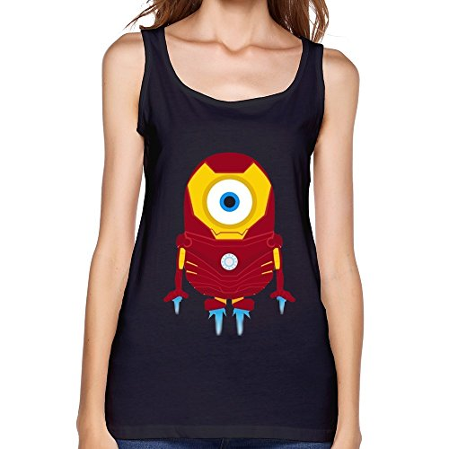 Woman's Cool Funny Minions Iron Man Camisole