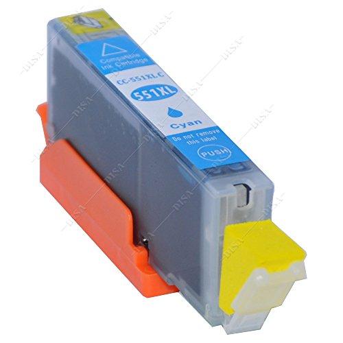 1 x Tintenpatrone mit Chip kompatibel zu CLI-551C Cyan Canon Pixma MX-Serie MX720 Series / MX725 / MX920 Series / MX925