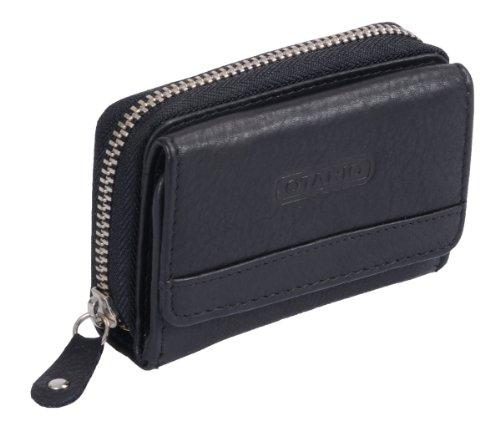 Mini-portafoglio OTARIO, Vera Pelle, nero 10,5x8x3cm
