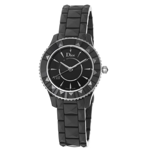 Christian Dior Women's CD1231E0C001 Black VIII Black Dial Ceramic Watch