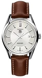 TAG Heuer Men's WV211A-FC6203 Leather Carrera Watch by TAG Heuer