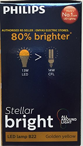 Philips-Stellar-Bright-13W-1300-Lumens-LED-Bulb-(Golden-Yellow,-Pack-Of-2)