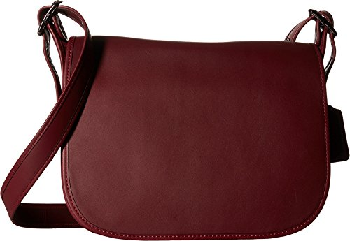 Popular Dark Brown Leather Ladies Saddle Bag Purse | High On Leather
