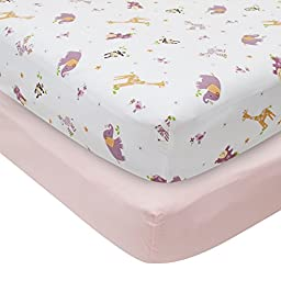Bedtime Originals Fitted Sheets, Lil Friends, 2 Count
