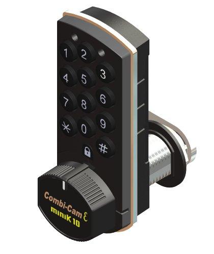Combi-Cam E, 7910-K10, Electronic Cabinet Lock, Black Finish (Combination Cabinet Lock compare prices)