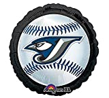 "Mayflower Distributing - Toronto Blue Jays Baseball Foil Balloon, 18"", Blue at Amazon.com"