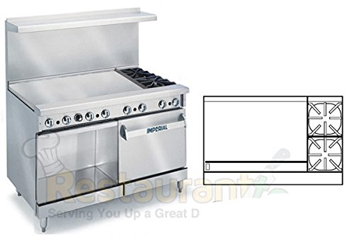 Imperial-Commercial-Restaurant-Range-48-With-2-Burner-36-Griddle-OvenCabinet-Nat-Gas-Ir-2-G36-Xb