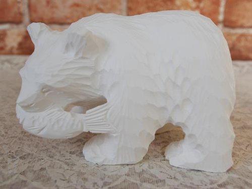Aquvii IBORI BEAR BANK 木彫り貯金箱