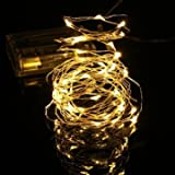 5M 50 LED String Fairy Light Battery Operated Xmas Party Decoration Holiday Lamp-warm White