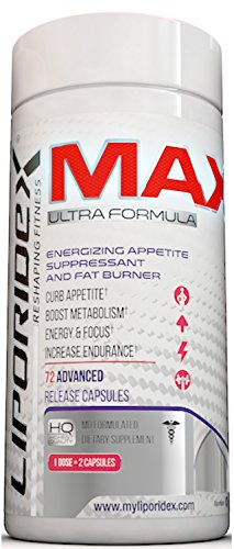 Liporidex MAX Appetite Suppressant Weight Loss Pills