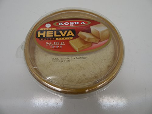 Koska Plain Halva - 14.11 oz(400gr) Sade Tahin Helvasi,Turkish (Turkish Bread compare prices)