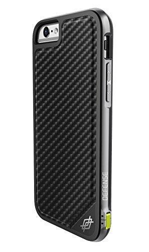 iPhone 6s PLUS Case & iPhone 6 PLUS Case, X-Doria Defense Lux Military Grade Drop Tested Protective Case [Black Carbon Fiber] (Carbon Iphone 6 Case compare prices)