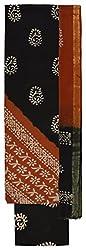 Rangoli Women's Cotton Unstitched Dress Material (Black )