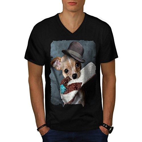 Cucciolo pantofola andare a prendere cagnetto Uomo Nuovo Nero M T-Shirt | Wellcoda