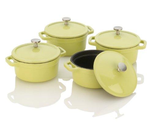 Fagor Michelle B. Mini Dutch Ovens With Lid, Lemon Lime
