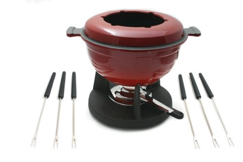 Swissmar Lucerne Fondue Set - Meat/Cheese - 2 L - Red