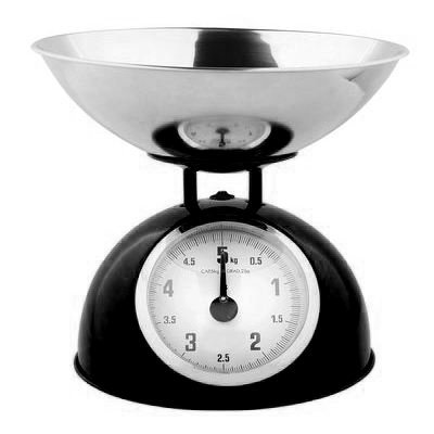 Balance de cuisine mécanique 5 kg noir