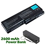 Battpit⢠Laptop / Notebook Battery Replacement for Toshiba Satellite Pro P300-1FP (4400 mAh) with FREE 2600mAh Power Bank / External Battery (Black) for Smartphone.