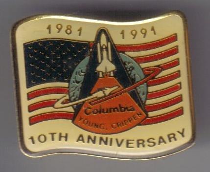 Nasa Space Shuttle Columbia 10th Anniversary Pin