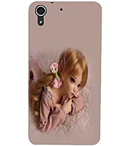 PrintDhaba Cute Doll D-1080 Back Case Cover for HTC DESIRE 728 (Multi-Coloured)