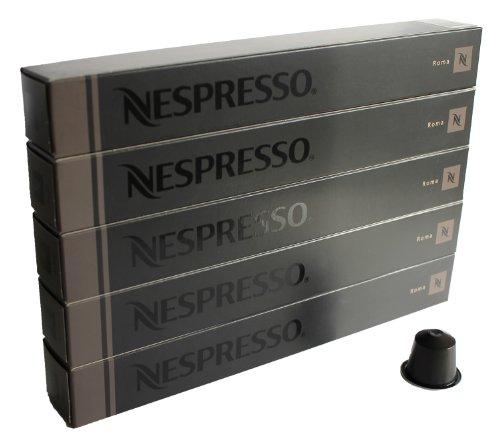 Nespresso Capsules black / grey - 50x Roma - Original Nestlé - Espresso Coffee