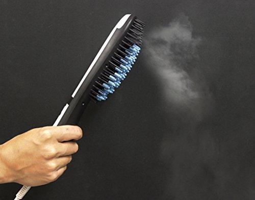 Beliosa Electric steam Hair Straightener Brush - Detangling Brush with Anion Spray and Anti-Burn Silicone Cap - Best No-Burn Steam Brush Hair Straightener with Sprayer (Steam Hair Cap compare prices)