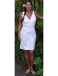Dress on Sexy Halter   Classic Hibiscus Women S Wedding White Fitted Dress