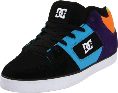 DC Shoes Men's Radar Slim Black Turquoise Velvet Purple Lace Up D0302925 9 UK, 43 EU, 10 US
