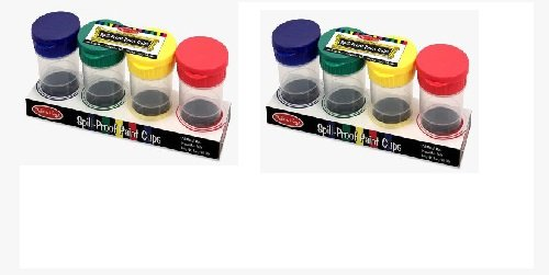 Melissa & Doug Spill Proof Paint Cups, Set of 8