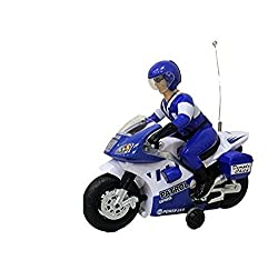 Uniek Deals Police Patrol Radio Control Toy Motorcycle Sound Light 360 Rotate