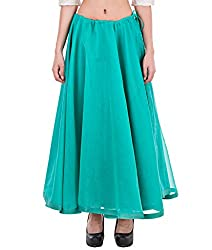 NIKA Chanderi Solid Long Skirt