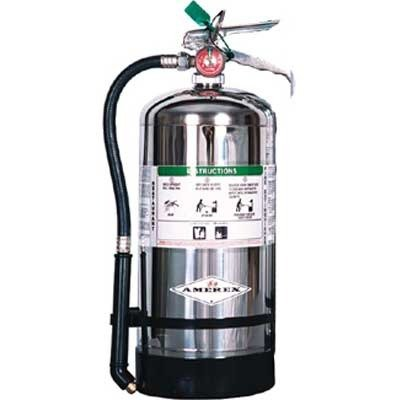 "Amerex 6 Liter  Wet Chemical Class A:K Fire Extinguisher, Ideal For ""KITCHEN USE"""