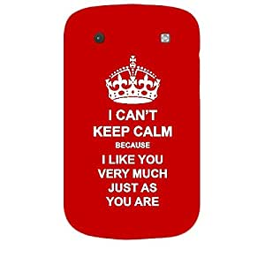 Skin4gadgets I CAN'T KEEP CALM BECAUSE I Like You Very Much Just As You Are - Colour - Red Phone Skin for BLACKBERRY BOLD 9900