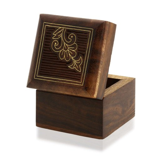 Small Jewelry Gift Box Wooden for Rings Earrings Cufflinks Toe Rings