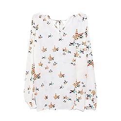 Generic Women Summer Casual Long Sleeve Tether Blouse Chiffon Floral T-Shirt