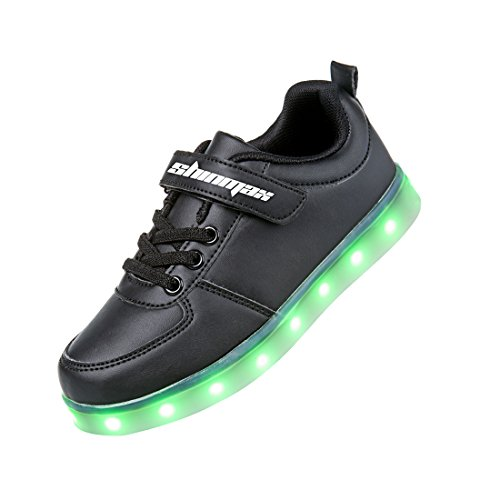 Shinmax-LED-Kids-Shoes-LED-Sneakers-Sports-Shoes-Velcro-Series-7-Colors-LED-Shoes-USB-Rechargable-Kid-Casual-Shoes-Flashing-Sneakers-of-Boy-and-Girl-for-Halloween-Christmas-Thanks-Giving-Day-with-CE-C