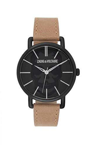 Zadig & Voltaire Unisex Analogue Quartz Watch 70's Beige ZV 065T/3Av
