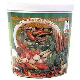 Mae Ploy Thai Green Curry Paste - 14 oz jar from Mae Ploy