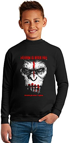 dawn-planet-apes-poster-superb-quality-boys-sweater-by-true-fans-apparel-50-cotton-50-polyester-set-