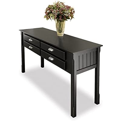 Console Table-Antique Black-Solid Beechwood (Antique Black) (29