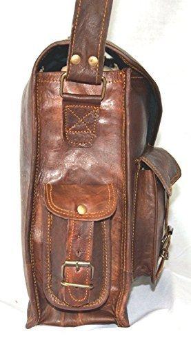 Handmadecraft ABB 18 Inch Vintage Handmade Leather Messenger Bag for Laptop Briefcase Satchel Bag 2