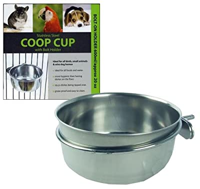 Rosewood Coop Cup with Bolt Holder 600ml (Pet Accessories, Small Animals, Feeding, )