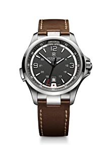 Victorinox Mens 249068 Night Vision Analog Display Swiss Quartz Brown Watch by Victorinox