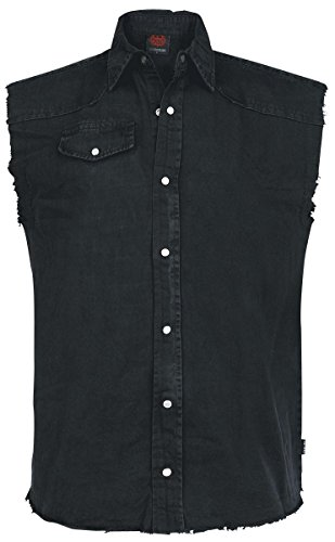 Spiral Solid Black Camicia senza maniche nero M