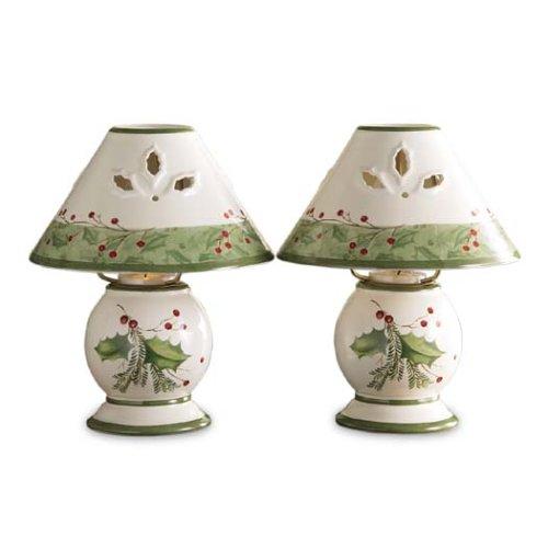 Lenox Holiday Gatherings Tea Light Lamps, Set Of 2