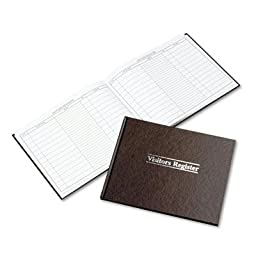 Wilson Jones - Visitor Register Book Red Hardcover 112 Pages 8 1/2 X 11 1/2 \