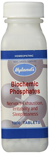 Hyland's Biochemic Phosphates Tablets, Natural Relief of Nervous Exhaustion, Irritability, and Sleeplessness, 1000 Count