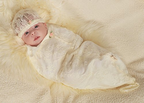 Cozy Cocoon® Blossoms & Lace, Creamy White, Infant back-387992