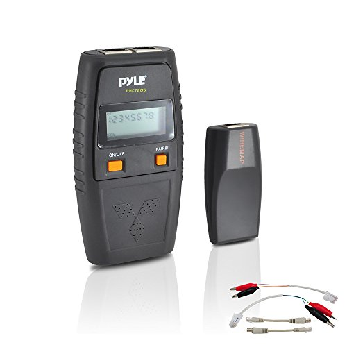 Pyle PHCT205 Network Cable Tester – UTP, FTP, BNC Coaxial, Telephone Continuity, Short Circuit, Open Connection and Test Leads