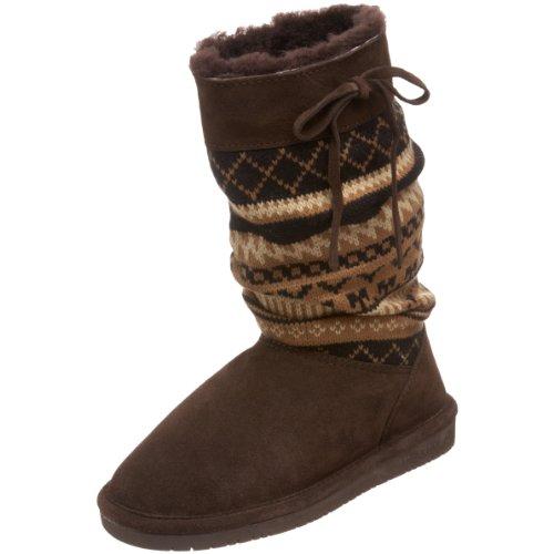 BEARPAW Aztec Genuine Sheepskin Lined Suede Womens Sweater Boots Sz 11